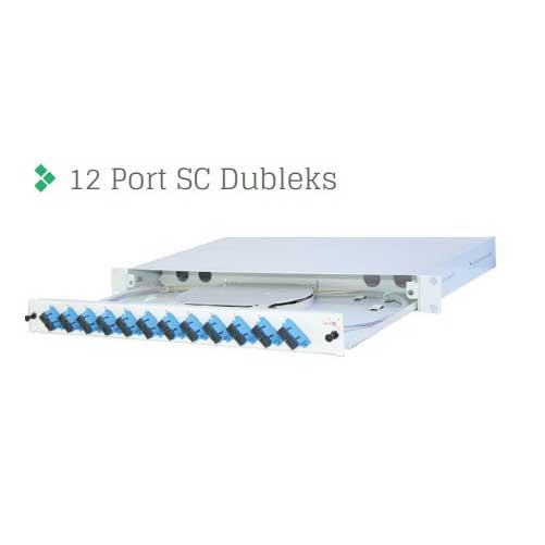 "ERAT R1U19KZSCDX-12F 1U 19"" 12 FIBERLI FULL SET SC DX RACK TİPİ MM 50/125 PATCH PANEL"