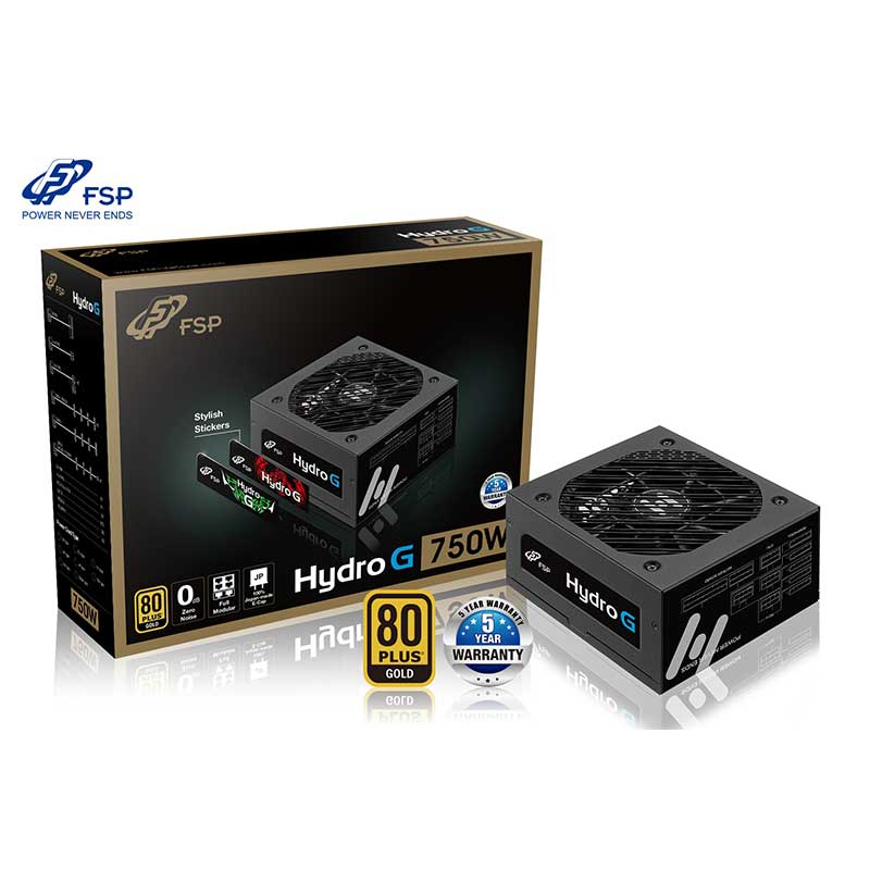 FSP HYDRO G-750 750W 13.5cm FANLI POWER SUPPLY 80+ Plus Gold