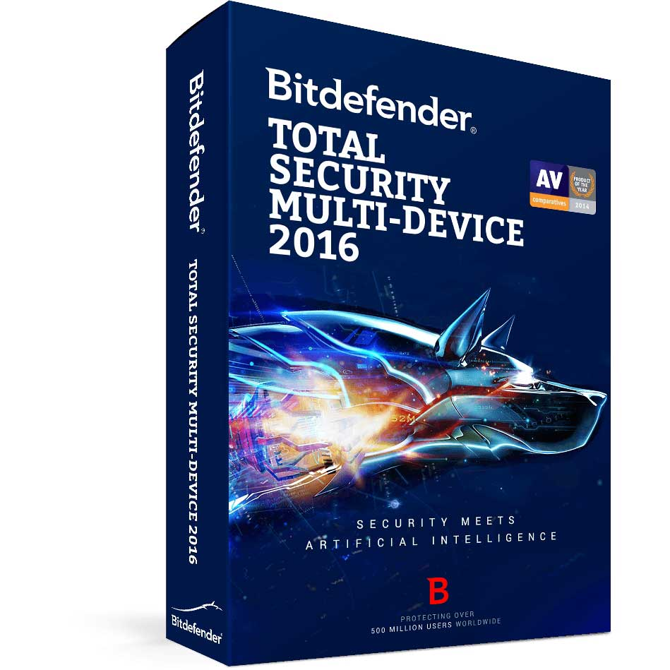 BITDEFENDER TOTAL SECURITY MULTI DEVICE 2016 5 KULLANICI 1 YIL