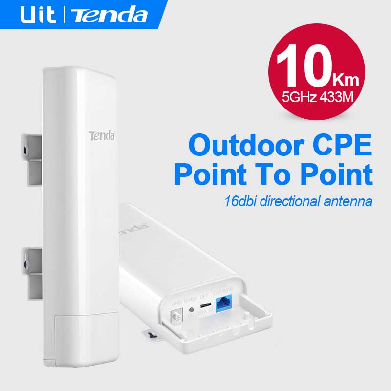 TENDA O6 433MBPS 1PORT POE INT. ANTEN 16DBI 5GHz OUTDOOR  5 KM ACCESS POINT