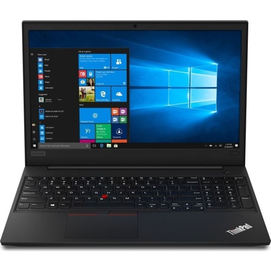 "Lenovo Thinkpad E590 Intel Core i5 8265U 8GB 256GB SSD Freedos 15.6"" Taşınabilir Bilgisayar 20NBS09000 +Lenovo 0A36188 Laser Wireless RF Kablosuz Lazer Mouse"